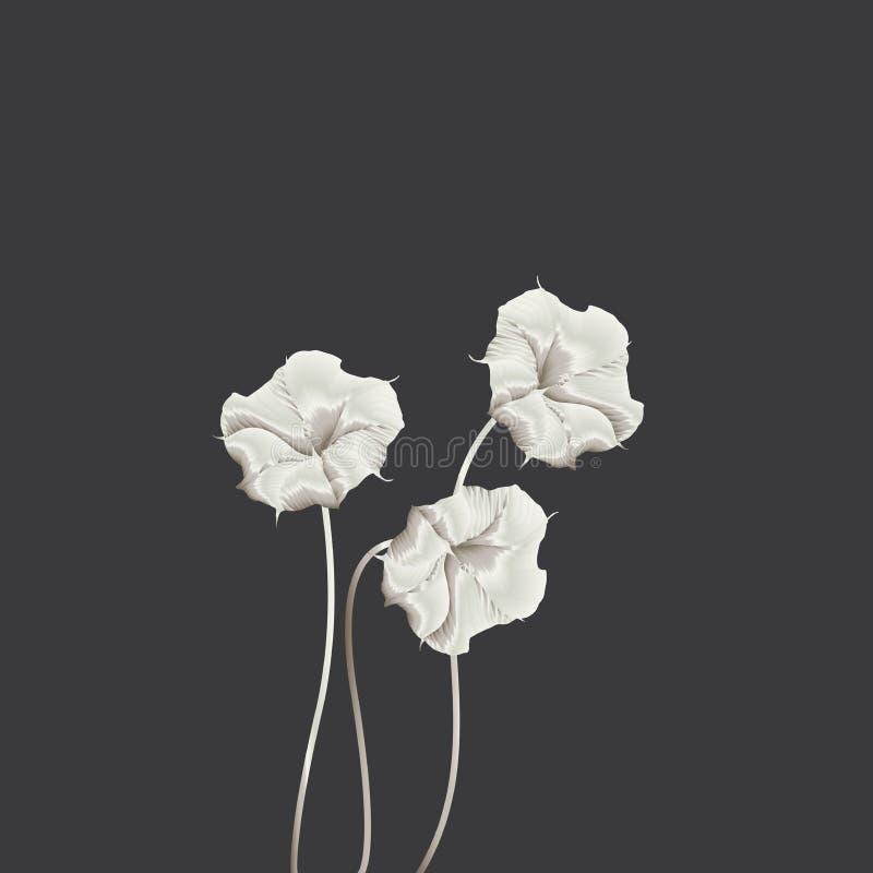 blommar silken royaltyfri illustrationer