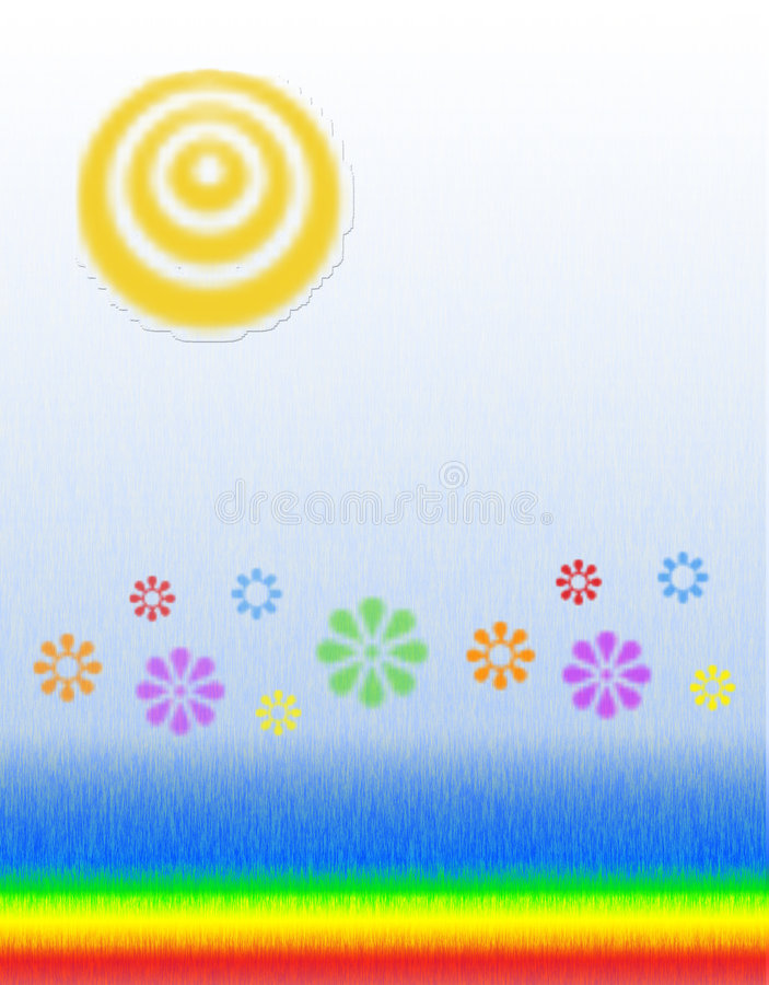 blommar solsken stock illustrationer