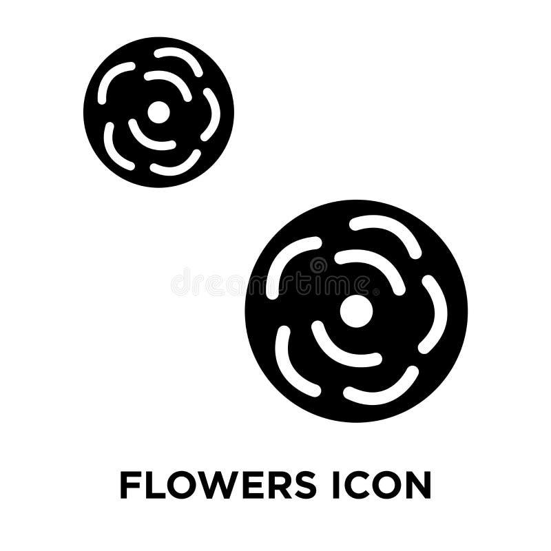 Blommar symbolsvektorn som isoleras på vit bakgrund, logobegreppsnolla stock illustrationer