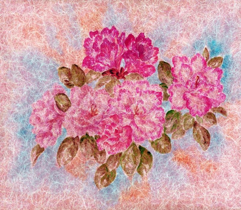 blommar ull royaltyfri illustrationer