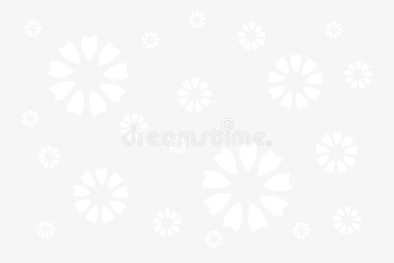 blommar white vektor illustrationer