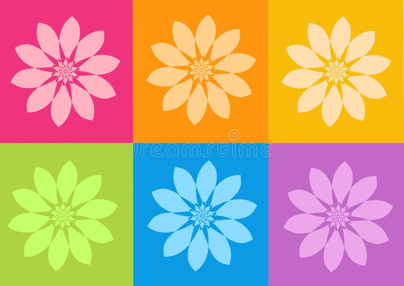 blommar yantrasyoga vektor illustrationer