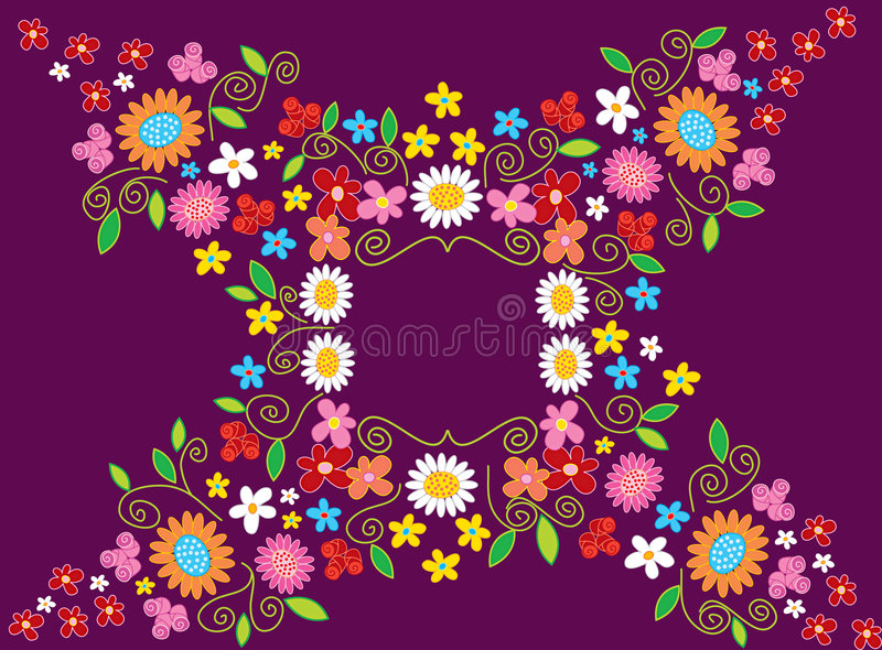 blommaramfjäder royaltyfri illustrationer