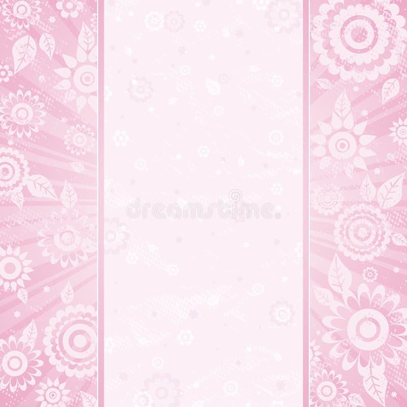 blommarampink stock illustrationer