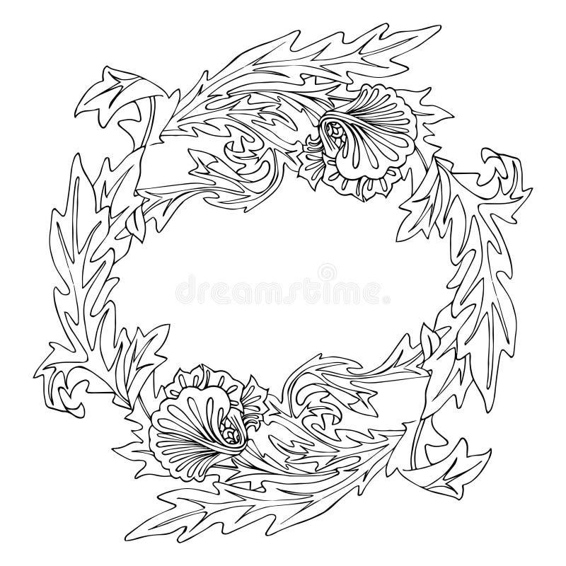 Blommaramprydnad royaltyfri illustrationer