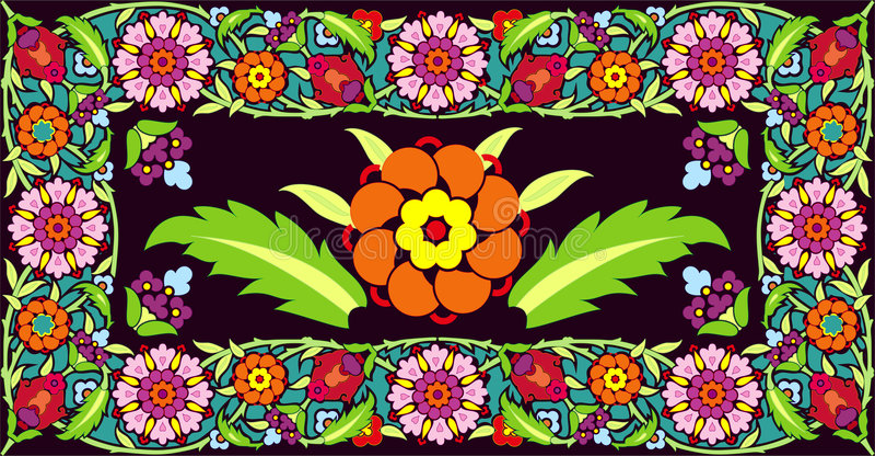 Download Blommaramvektor vektor illustrationer. Illustration av samkopiering - 990602