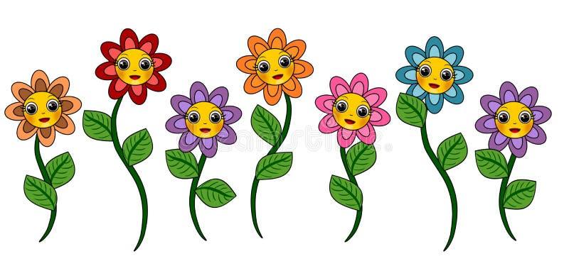 Blommasamling royaltyfri illustrationer