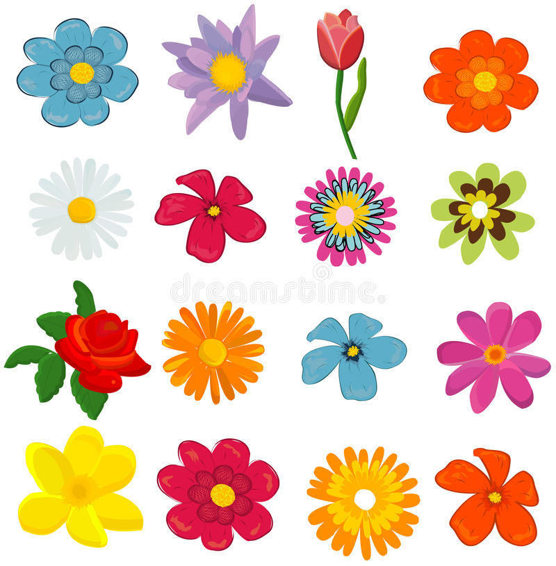 blommaset royaltyfri illustrationer