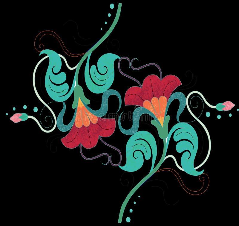 Blommaspegel vektor illustrationer