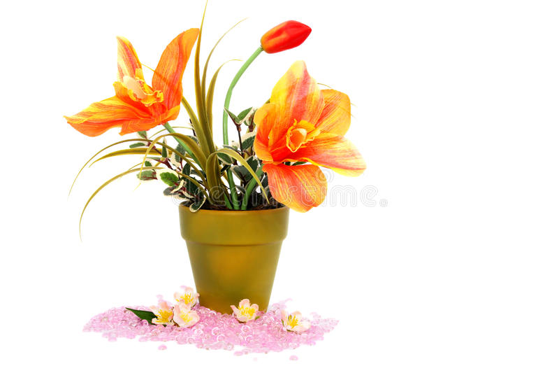 blommastenvase arkivbild