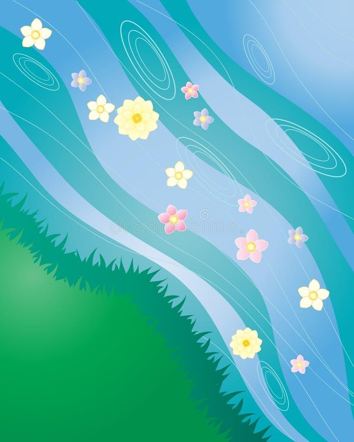 blommaström stock illustrationer