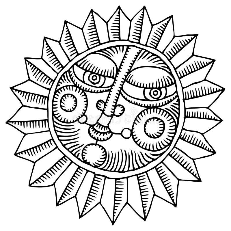 blommasun stock illustrationer