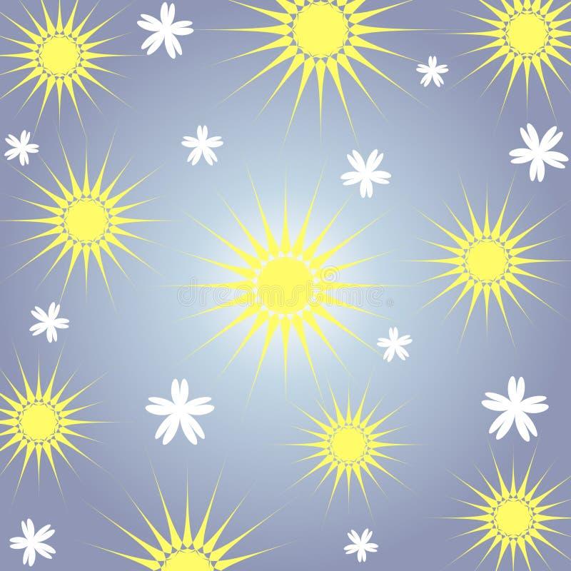 blommasun royaltyfri illustrationer