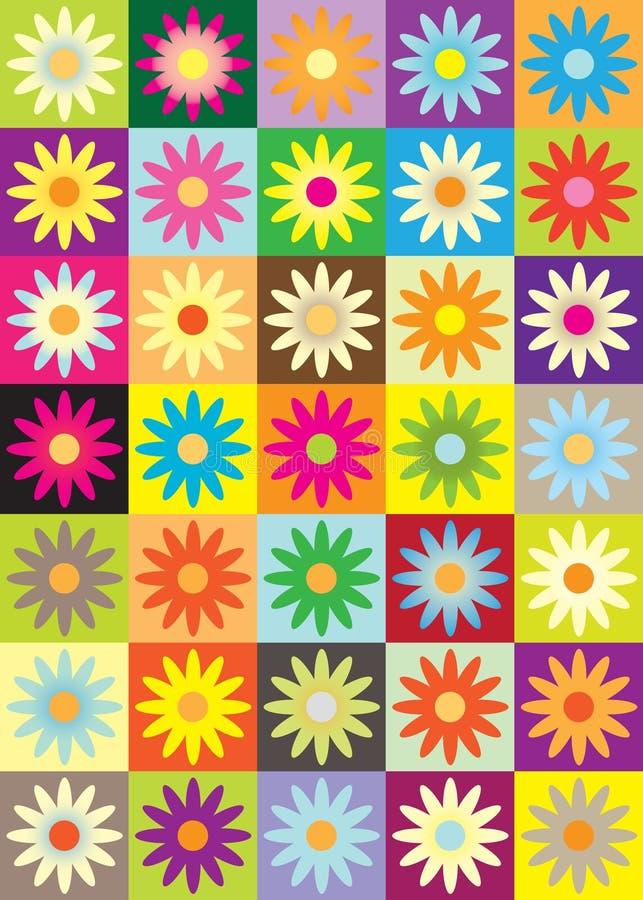 blommasymbol stock illustrationer