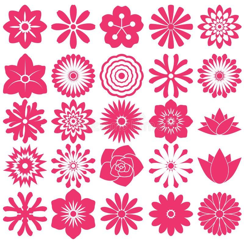 Blommasymbolsymbol stock illustrationer