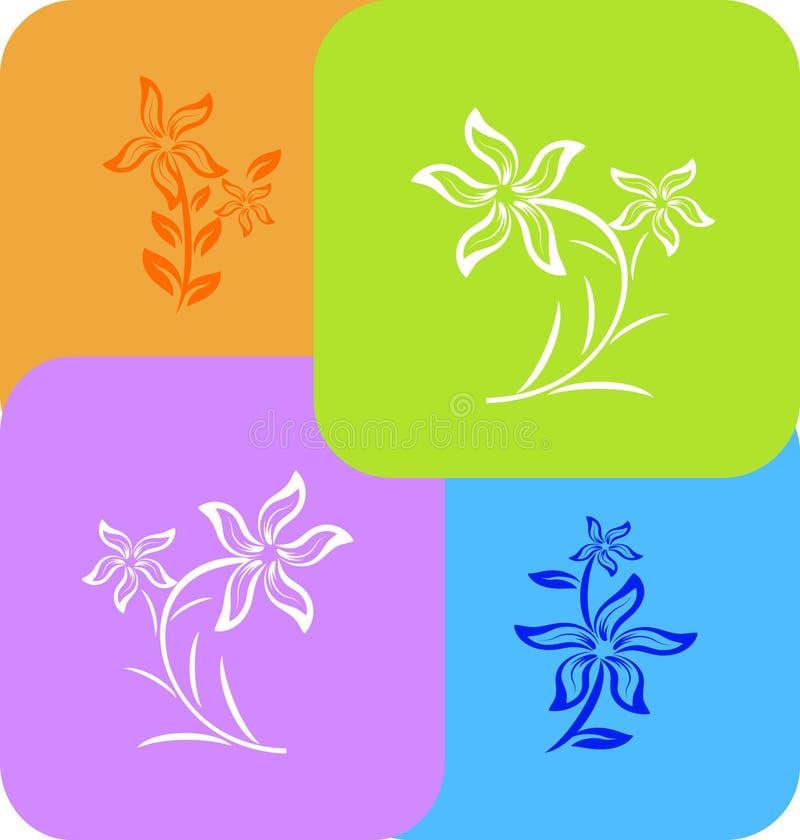 blommategelplatta royaltyfri illustrationer