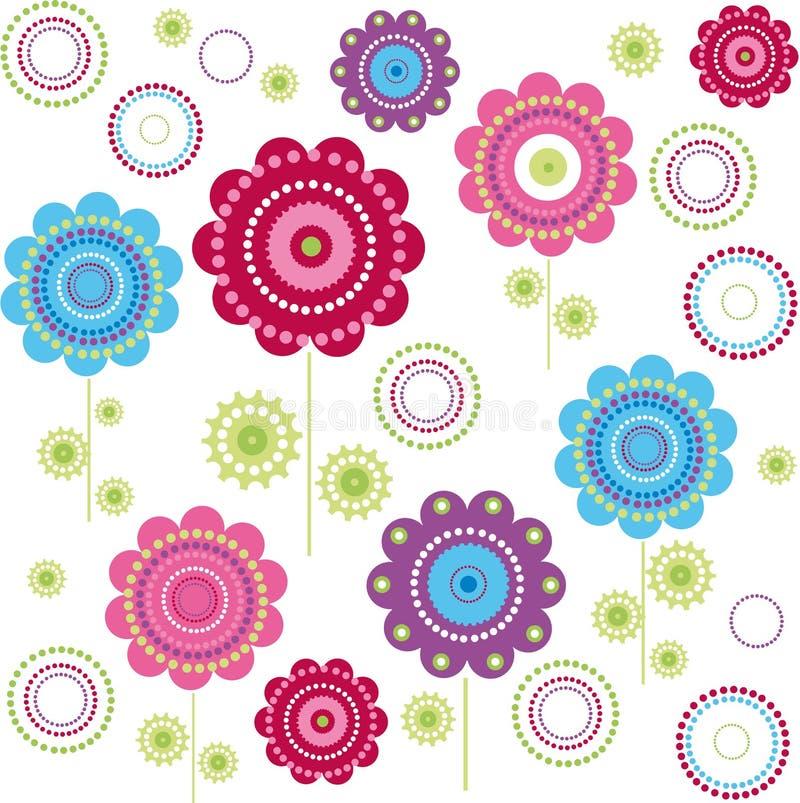 blommatextur royaltyfri illustrationer