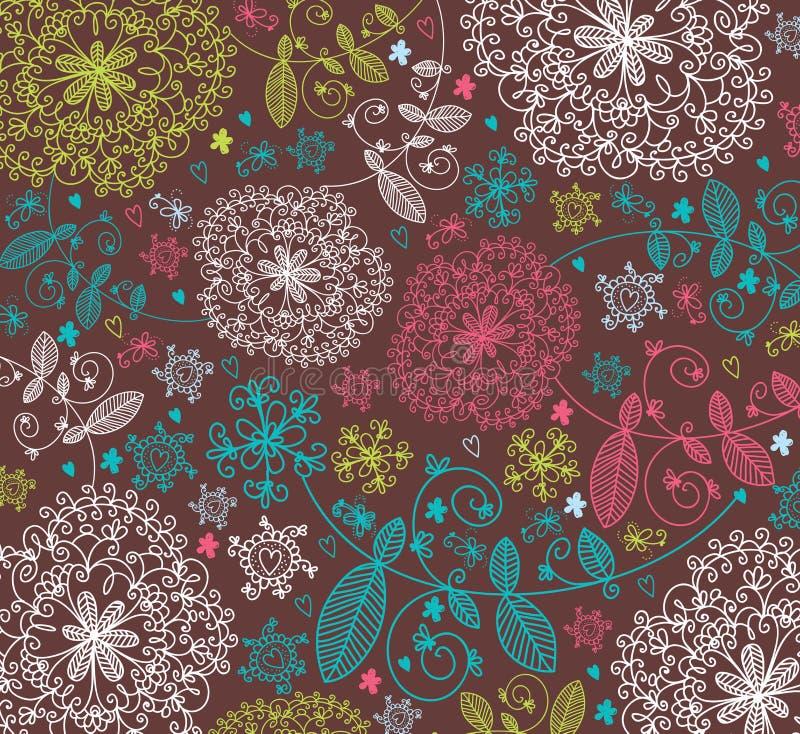 blommatextur stock illustrationer