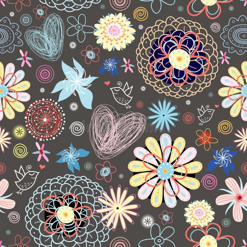 blommatextur vektor illustrationer