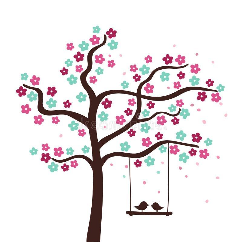 blommatree stock illustrationer