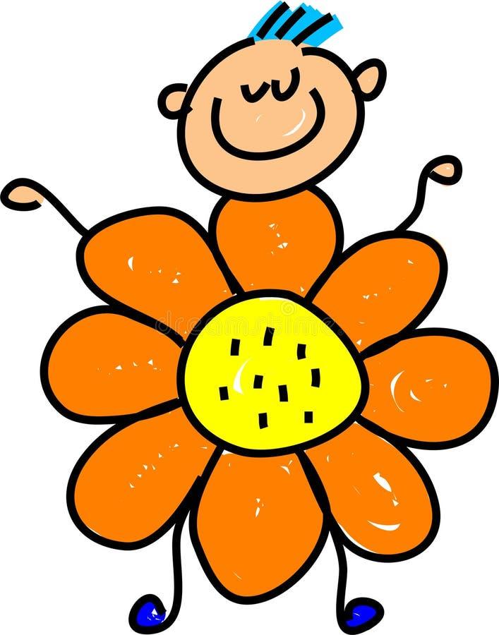 blommaunge royaltyfri illustrationer