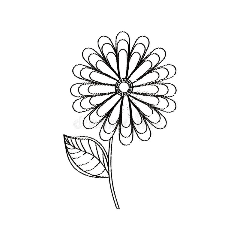 blommavårsäsongen skissar royaltyfri illustrationer
