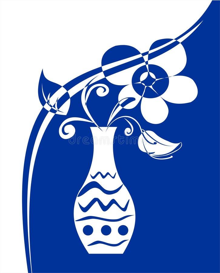 blommavase royaltyfri illustrationer