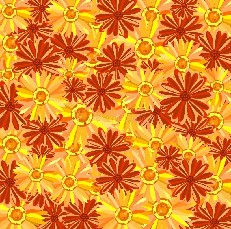 blommawallpaper vektor illustrationer