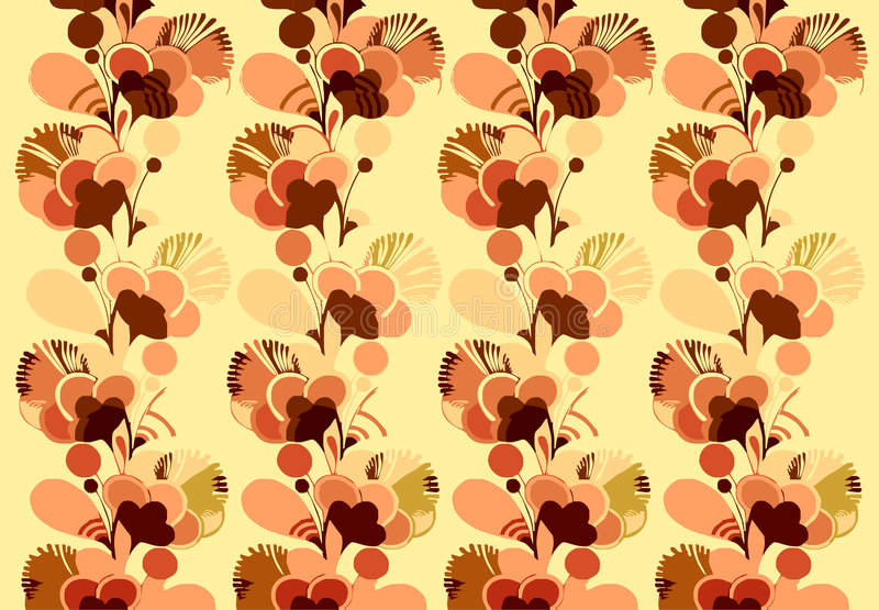 blommawallpaper royaltyfri illustrationer