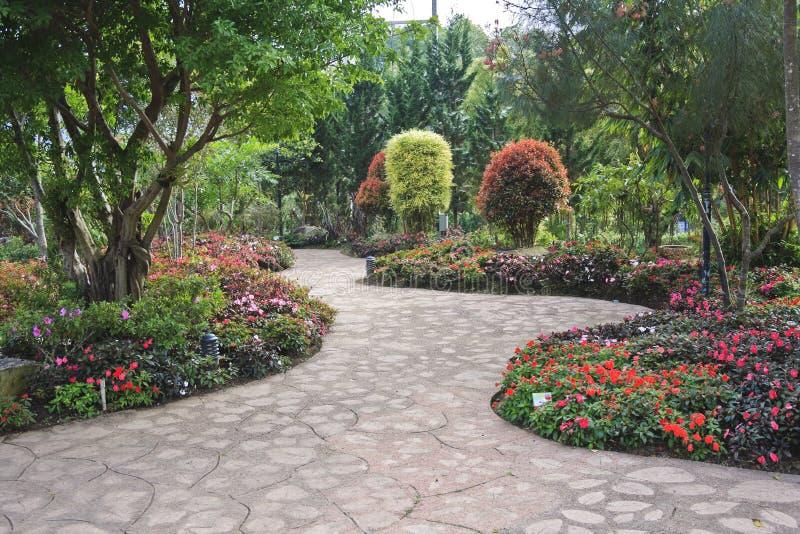 blommig trädgård för design arkivbilder