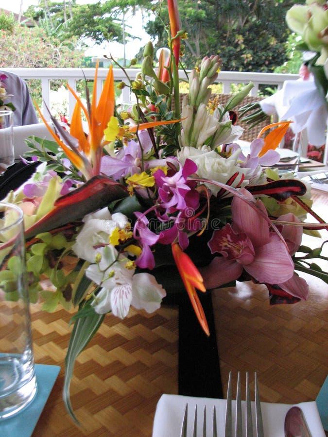 Blommor för bröllopmottagande fotografering för bildbyråer