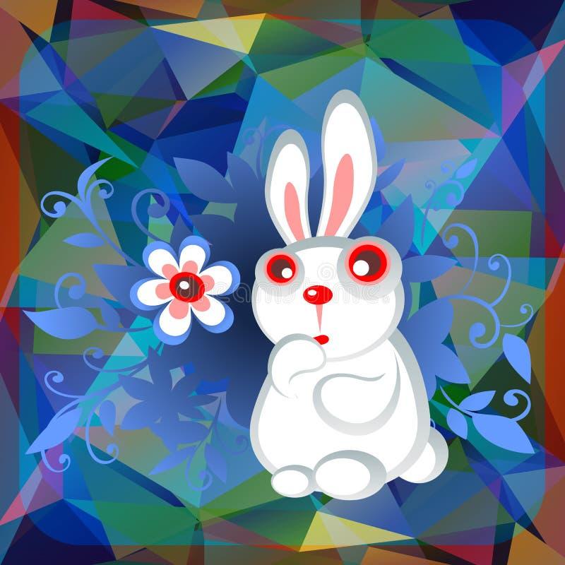 Blommor för påskkaninang stock illustrationer