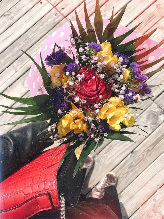 Blommor från en älskad oneðŸ'˜ðŸ' arkivfoto