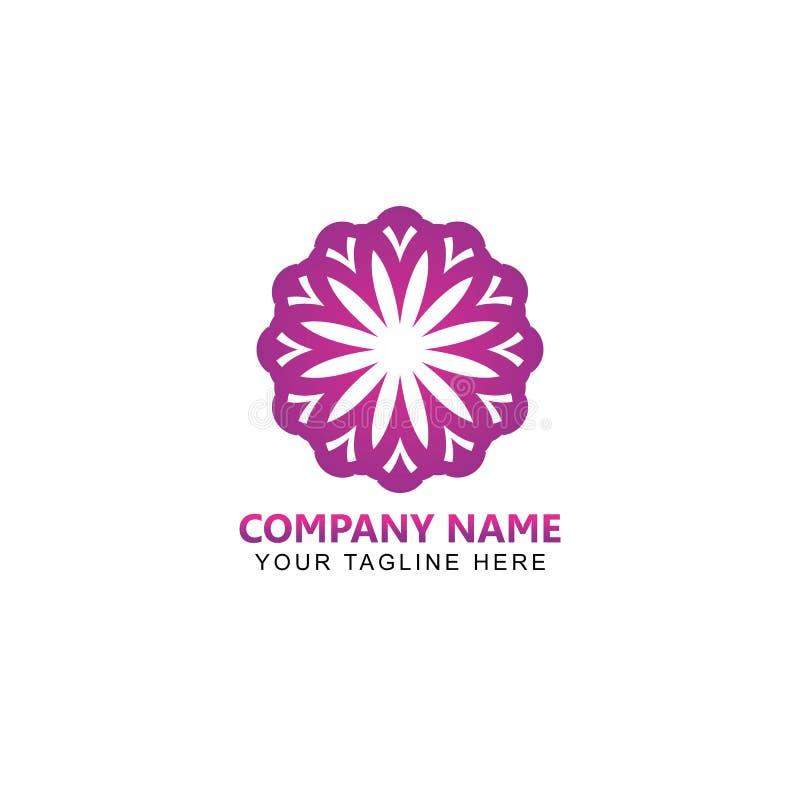 Blommor gör sammandrag Logo Design Vector royaltyfri illustrationer