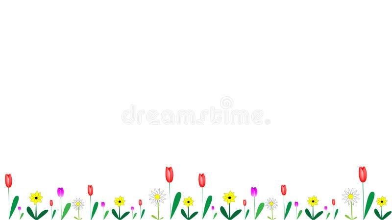 Blommor i olikt formbaner royaltyfri illustrationer