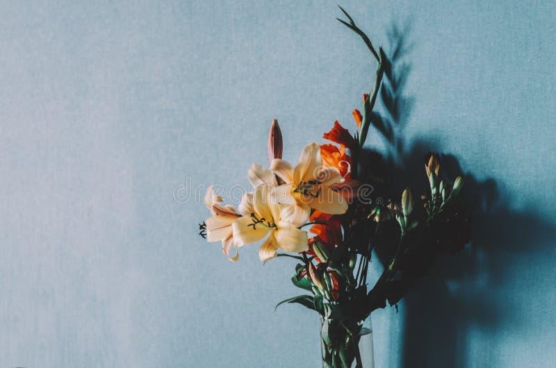 Blommor i rum royaltyfri foto
