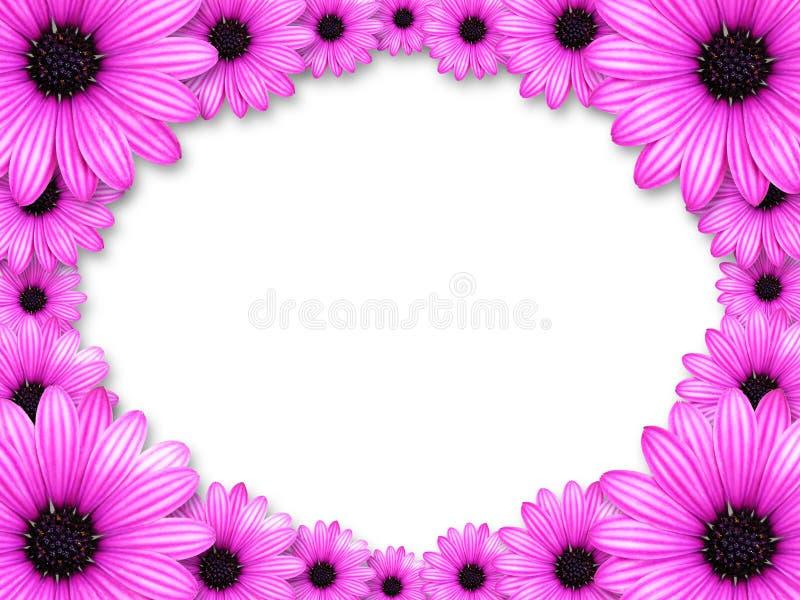 blommor inramniner gjord pink vektor illustrationer