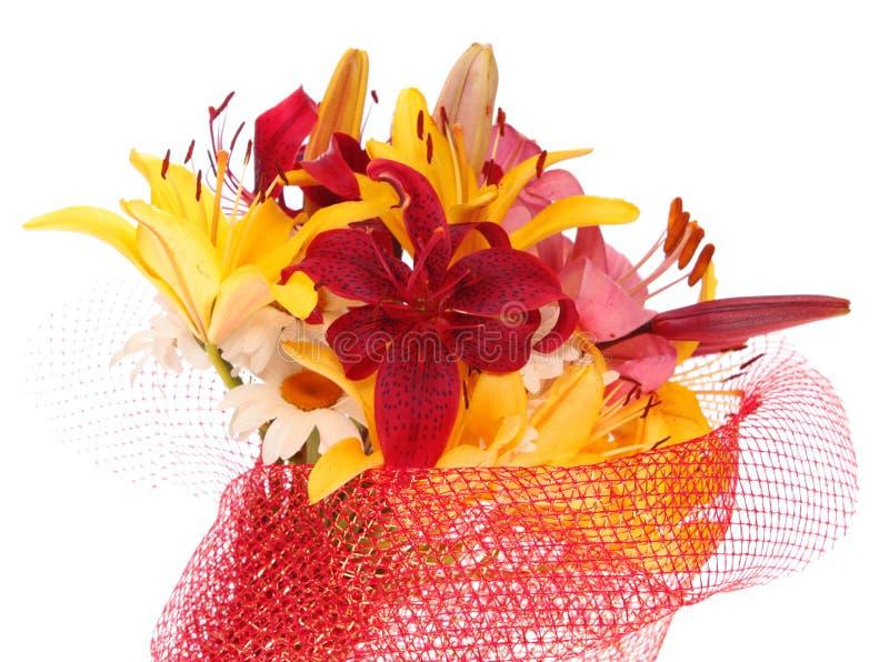 blommor isolerade liljan royaltyfria foton