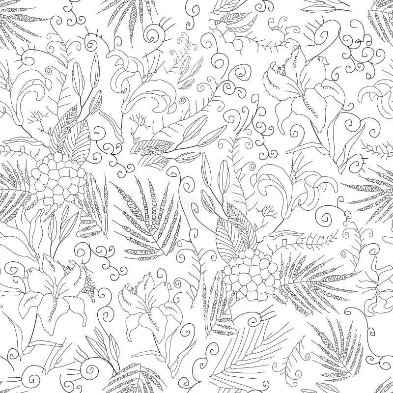 blommor mönsan den seamless vektorn vektor illustrationer