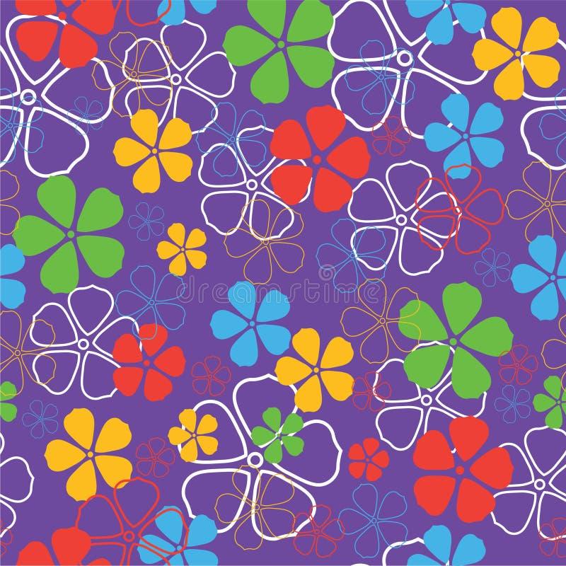 blommor mönsan seamless vektor illustrationer