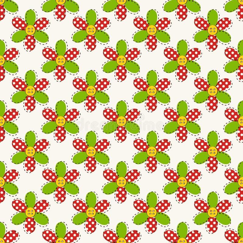 blommor mönsan seamless också vektor för coreldrawillustration stock illustrationer