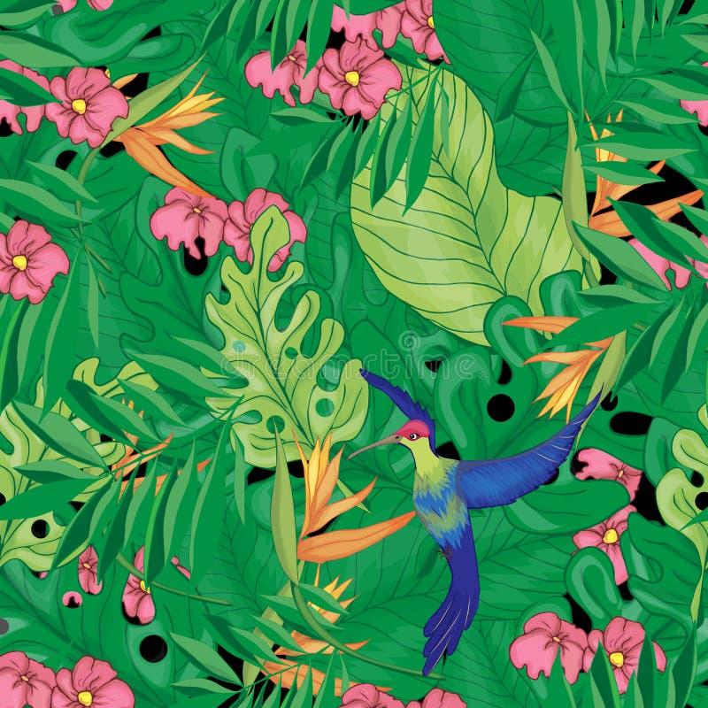 Blommor och l?mnar stock illustrationer