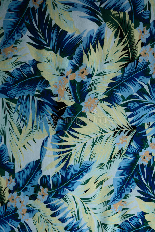 Blommor och sidor för hawaiibo för texturtygtappning vektor illustrationer