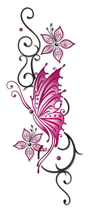 blommor ranka fj ril vektor illustrationer illustration av leaf 33575460. Black Bedroom Furniture Sets. Home Design Ideas