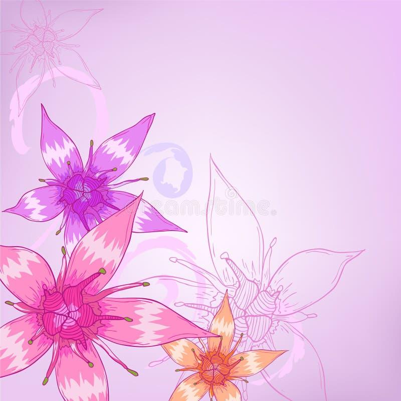 blommor smyckar purple royaltyfri illustrationer