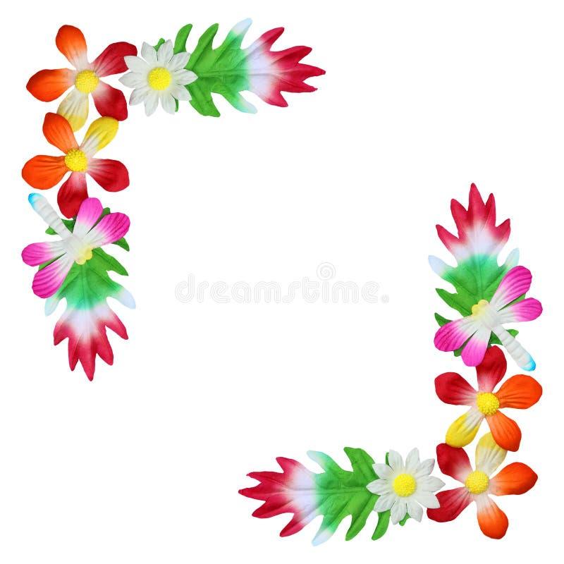 Blommor som göras av färgrikt papper som används för garnering royaltyfria foton