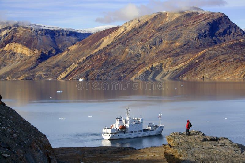Blomsterbugten - fjord de Franz Joseph - le Groenland images libres de droits