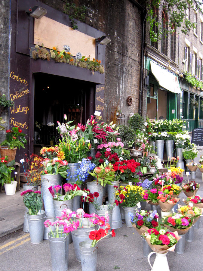 blomsterhandel arkivbild
