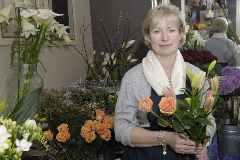 blomsterhandlare royaltyfria foton