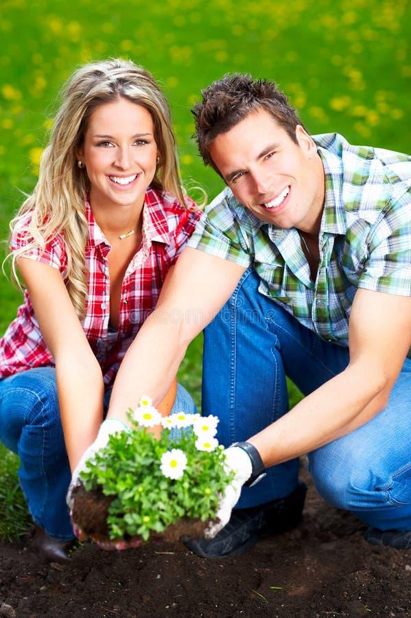 blomsterhandlarefolk fotografering för bildbyråer
